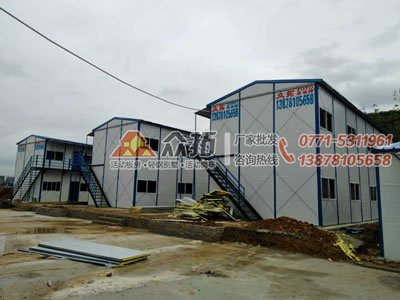 柳州柳东汽车学院项目工地活动板房