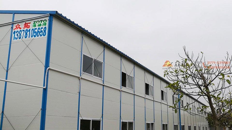 南宁大学西路建筑工地宿舍板房